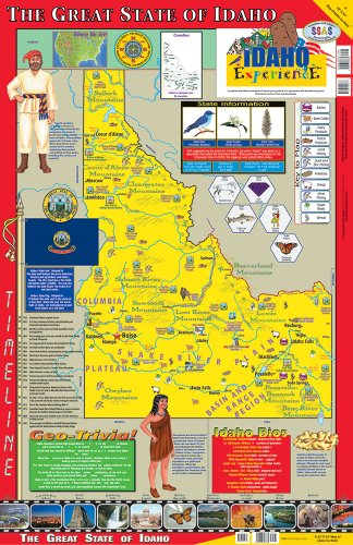 Gallopade Publishing Group 22 x 34 Inches The Idaho Experience Poster/Map (9780793397662)