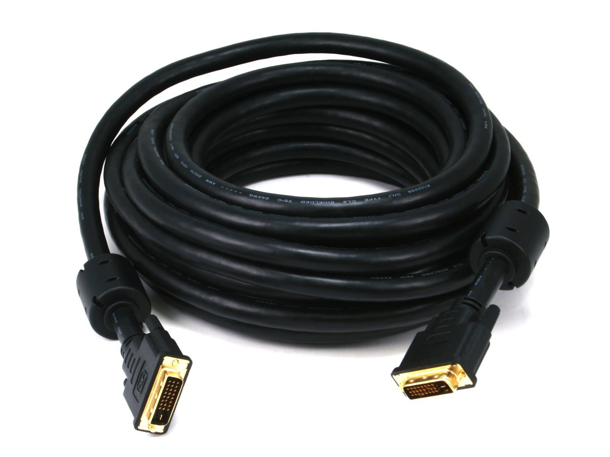 Monoprice 35ft 24AWG CL2 Dual Link DVI-D Cable - Black