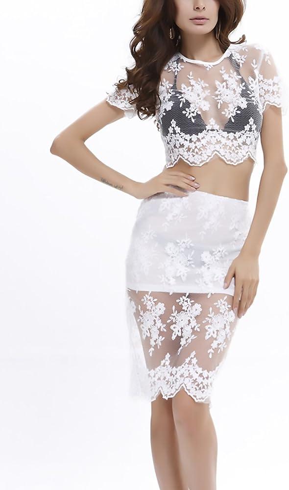 Saoye Fashion Conjuntos Mujer Elegantes Verano Manga Corta Cuello ...