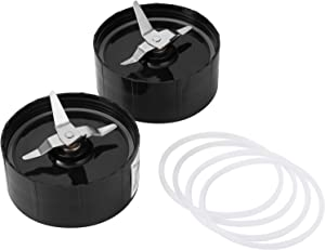 Magic Bullet Replacement Parts 2 Pack 250W Model MB1001 Replacement Parts for Magic Bullet Blender, Juicer and Mixer Cross Blade Spare Replacement Part
