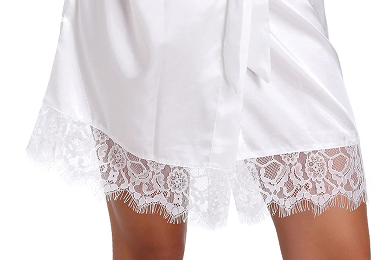 WPFING Encaje Blanco Camis/ón de la boda para el camis/ón nupcial de la novia del partido nupcial