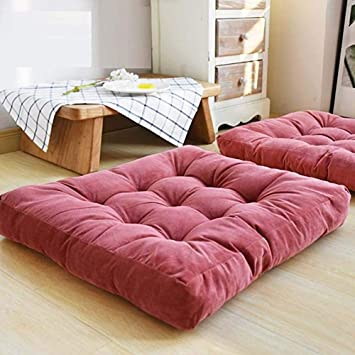 Amazon.com: Thicken Tufted Cushion, Square Meditation Pillow ...