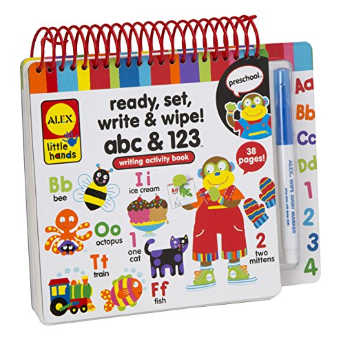 ALEX Toys Little Hands Ready Set Write and Wipe! ABC and 123 Dry Erase Alphabet Board