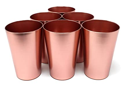 amazon com aluminum tumbler reusable 16 oz drinking cups bright