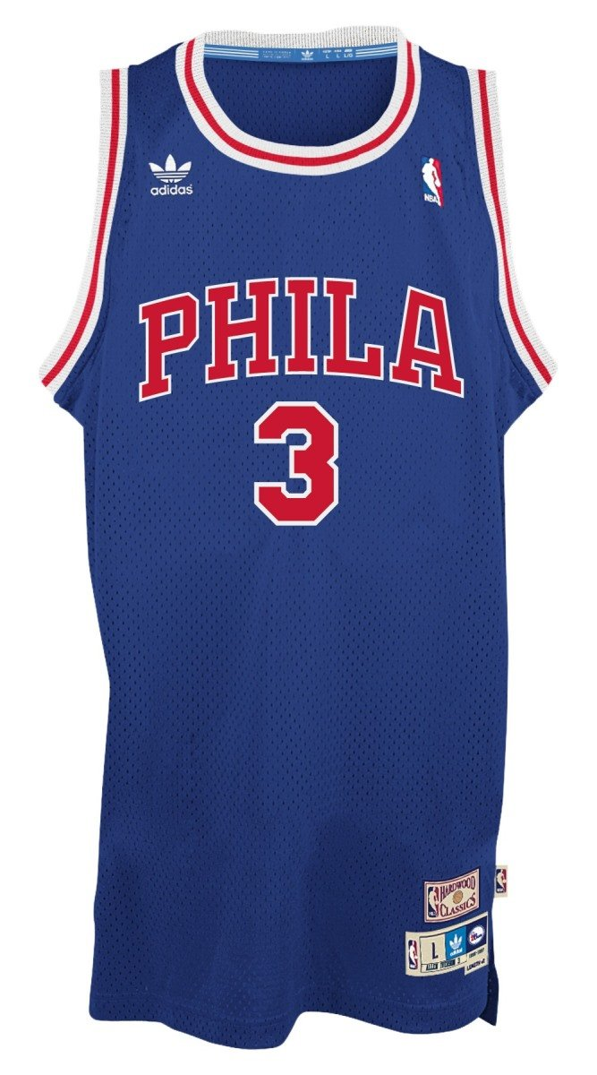 f7a9c569edc ... Amazon.com Allen Iverson Philadelphia 76ers Adidas NBA Throwback  Swingman Jersey - Blue Sports Outdoors ...