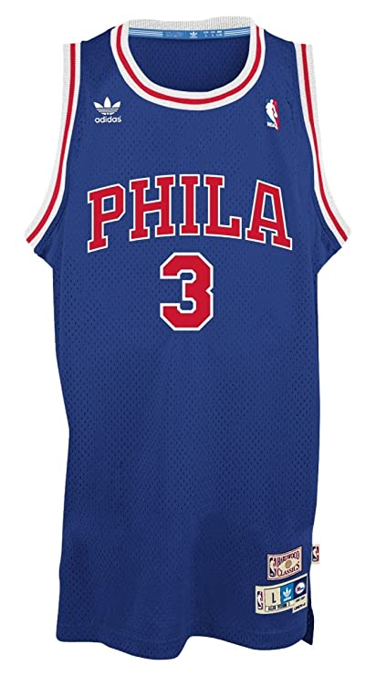 best website 5022d 24439 Amazon.com : adidas Philadelphia 76ers #3 Allen Iverson NBA ...