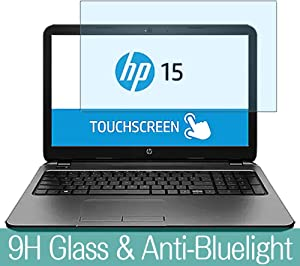 "Synvy Anti Blue Light Tempered Glass Screen Protector for HP TouchSmart 15-g000 / g020nr / g059wm / g014dx / g091sa / g067cl 15.6"" Visible Area 9H Protective Screen Film Protectors"
