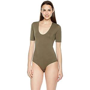 8a09dbd02b NBB Women Basic Solid Short Sleeve Scoop Neck Cotton Hipster ...