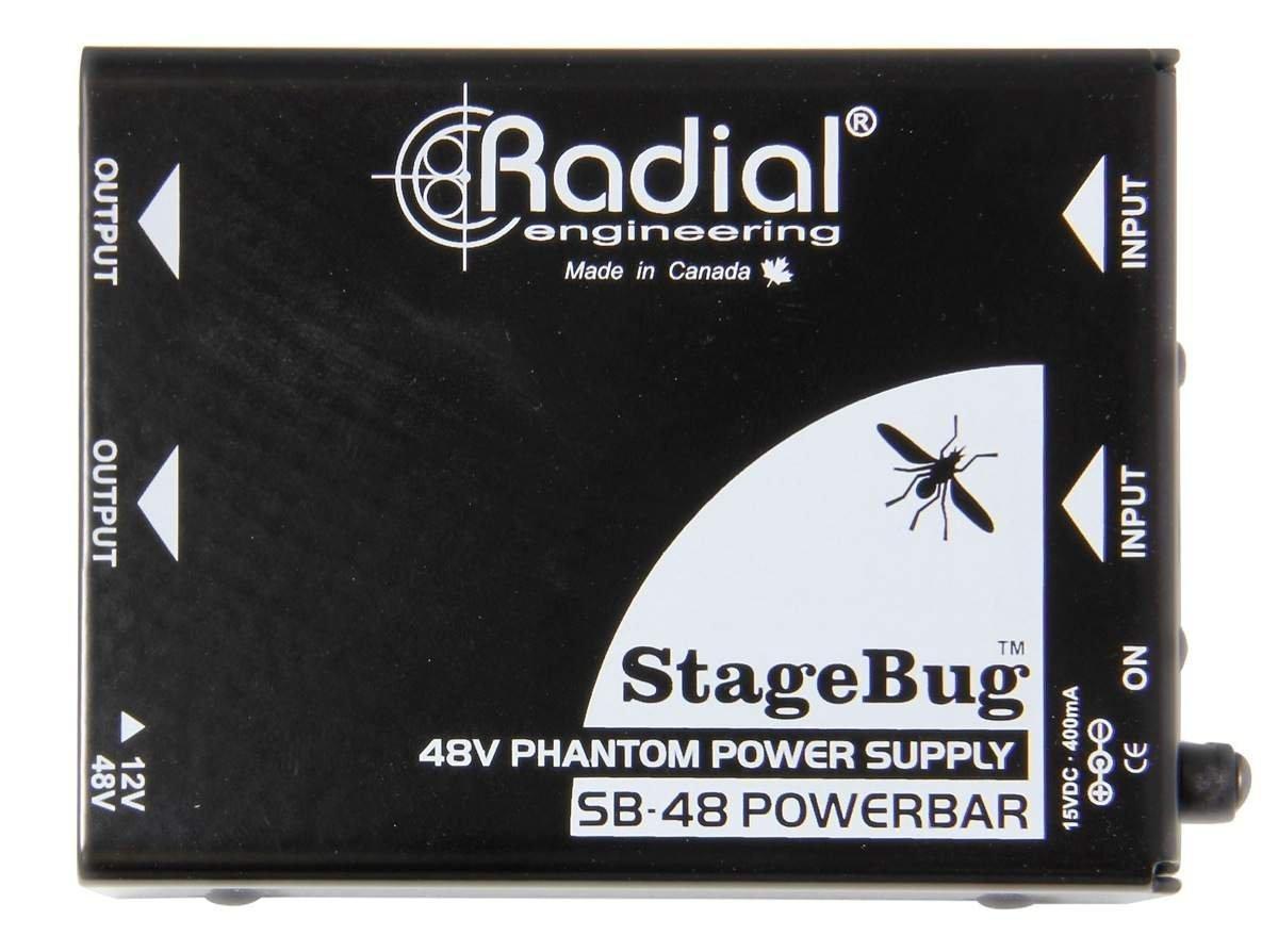 Radial Two ChannelSB-48 Stagebug Phantom Power Supply