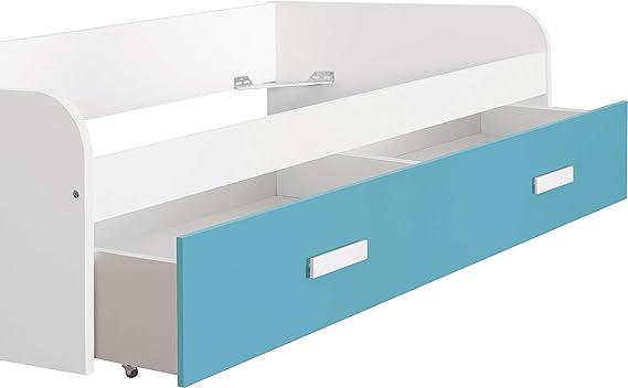 x 98 Alto x 201 Color Blanco Medidas: 54 Venprodin Cama Nido Juvenil de 90x190 con Caj/ón Fondo Ancho Azul Turquesa
