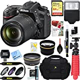 Nikon D7200 DX-format Black Digital SLR Camera Kit (1555) + AF-S 18-140mm f/3.5-5.6G ED VR Lens + Accessory Bundle