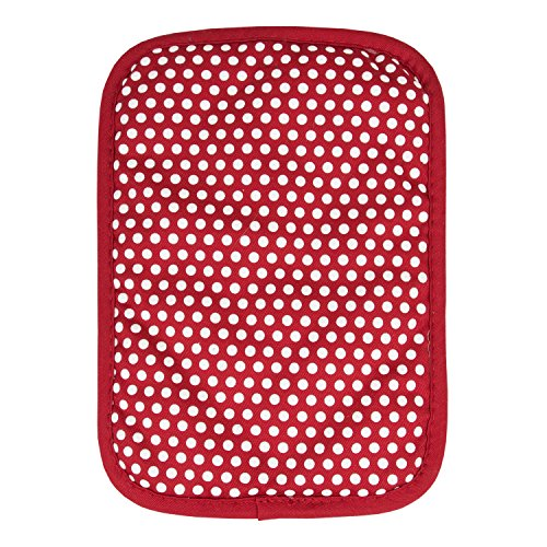 RITZ Royale Reversible Non-Slip Grip Silicone Dot Cotton Twill Pot Holder, Paprika Red