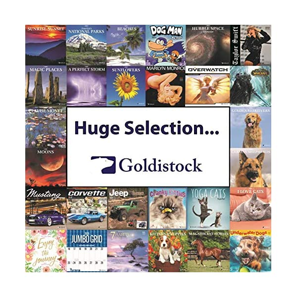 """Goldistock 2020 Large Wall Calendar -""""Siberian Huskies"""" - 12"""" x 24"""" (Open) - Thick & Sturdy Paper - - Fun-Loving and Outgoing Dogs 6"""