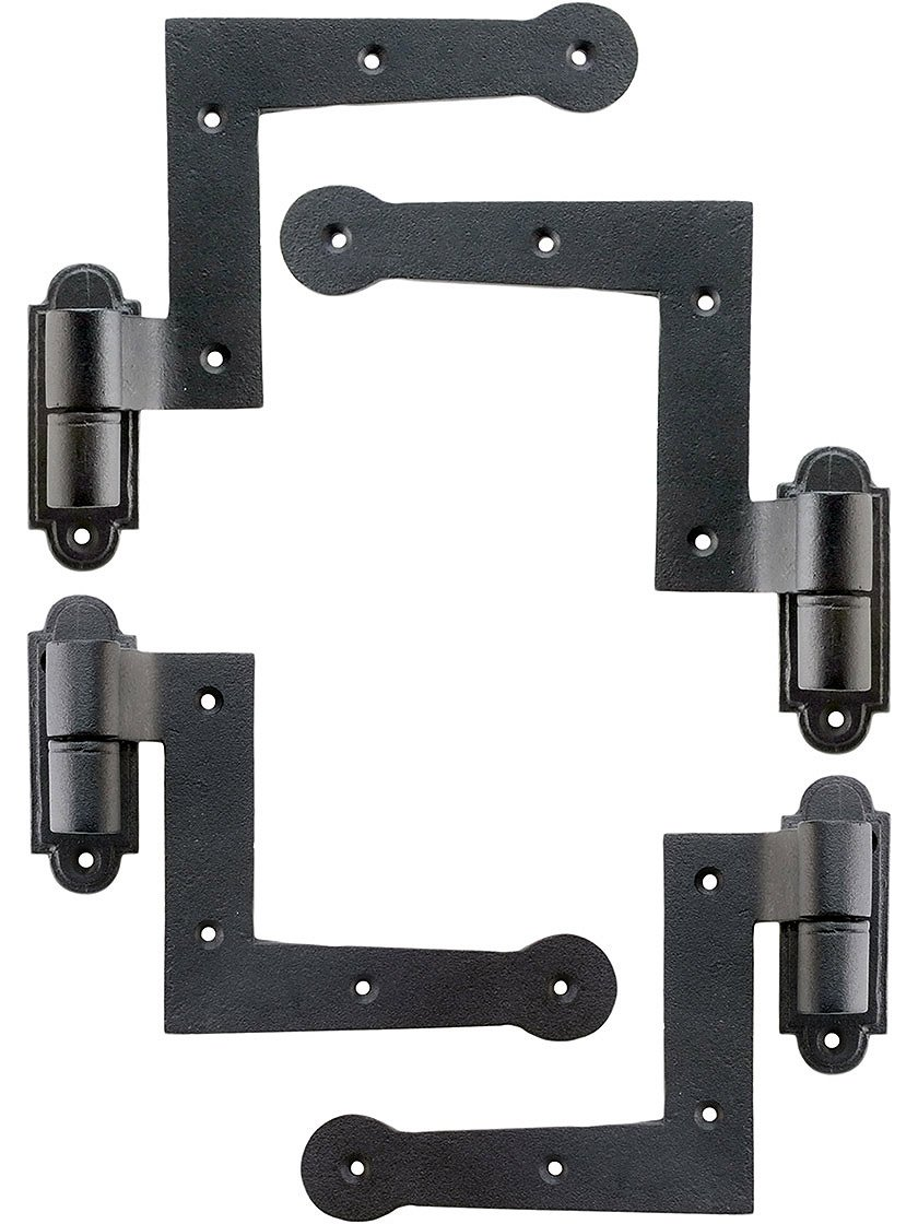 Set of Cast Iron New York Style Shutter Hinges with 1 1/2'' Offset