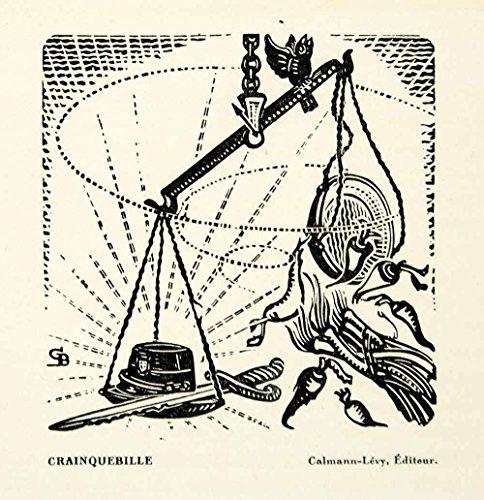 1930 Lithograph Gabriel Belot Crainquebille Anatole France Balance Scale Art - Original In-Text (1930 Lithograph)