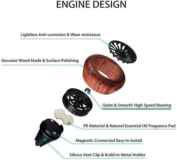 Unbekannt Auto Duft Diffuser Vent Clip Lufterfrischer Natürliche Holz Auto Lufterfrischer Duft Aromatherapie Ätherisches Öl Diffusor Luftreiniger Küche Haushalt