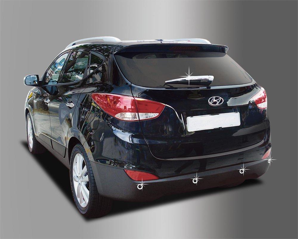 Accesorios para Hyundai ix35 trasero cromo Cover Set tapas Tuning Tapacubos: Amazon.es: Coche y moto