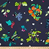 Art Gallery Fabrics Art Gallery Frutteria Jersey Knit Fabric by the Yard, Blue