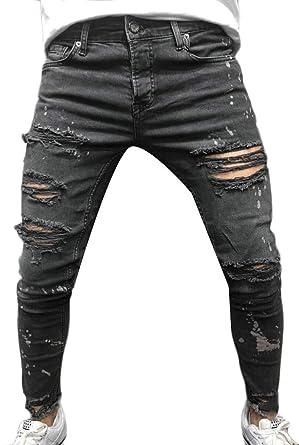 BingSai Pantalones Vaqueros Ajustados y elásticos para ...