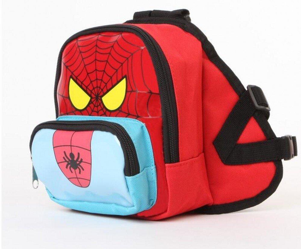 DELE Spider Man Nylon Dog Backpack Puppy No Leash
