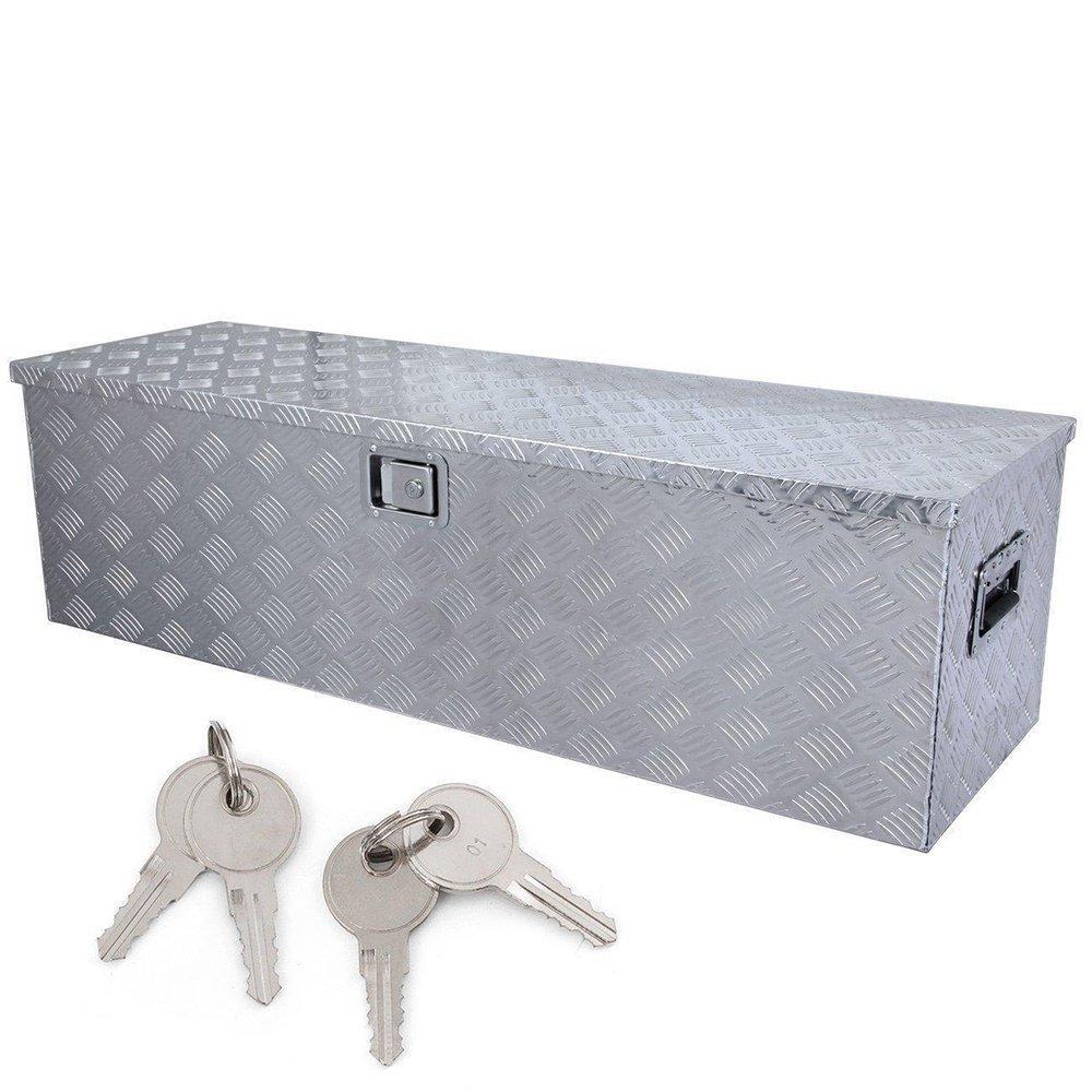 49'' Aluminum Truck Underbody Tool Box Trailer RV Tool Storage Under Bed w/Lock