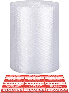 Bubble Cushioning Wrap - Bubble Cushioning Wrap for Moving with Perforated Every 12'', Easy to Tear, Small Bubble, Thicker & Durable for Packing, Delivering & Moving 12'' x36 Feet