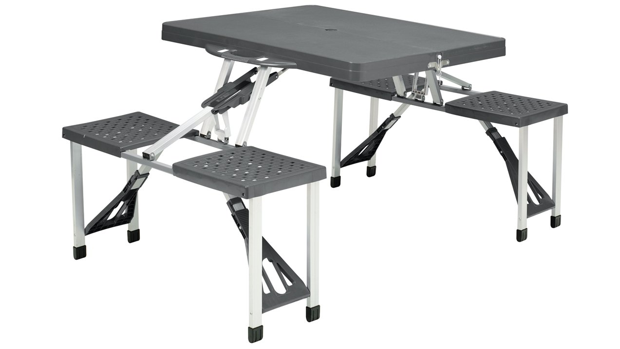Easy Camp Toulouse Picnic Table, Grey/Silver, One Size 670410