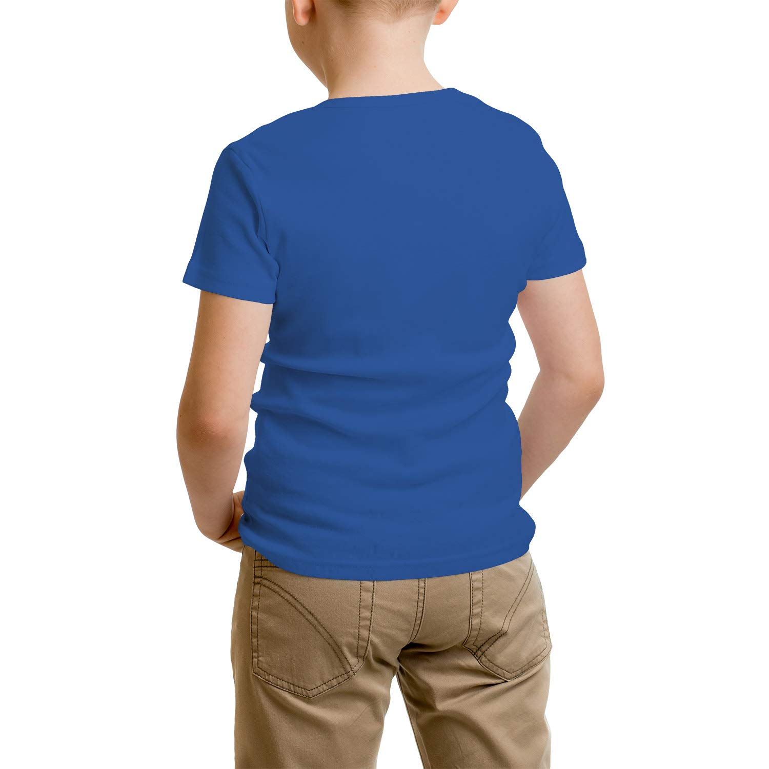 absolutemi Walking The Dog Cottont-Shirt Slim-Fit forBoys Shirts Laconic Parttern