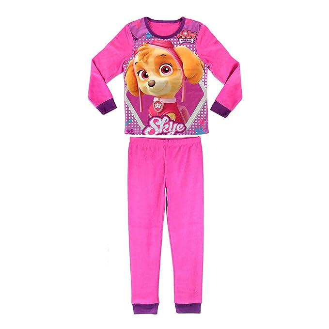 828173 Pijama de terciopelo para niñas motivo de PAW PATROL SKYE (3 a 6 años