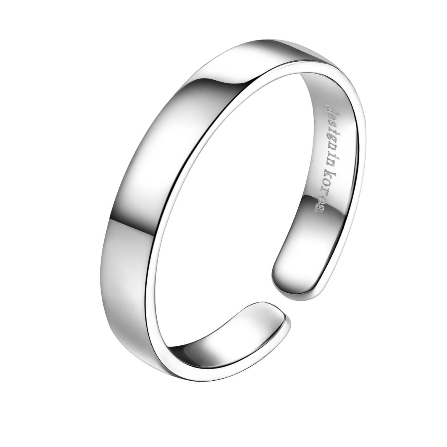 Sterling Silver Midi Above Knuckle Pinky Open Toe Finger Ring Band Thumb Ring 3mm Width US Size 4.25-6