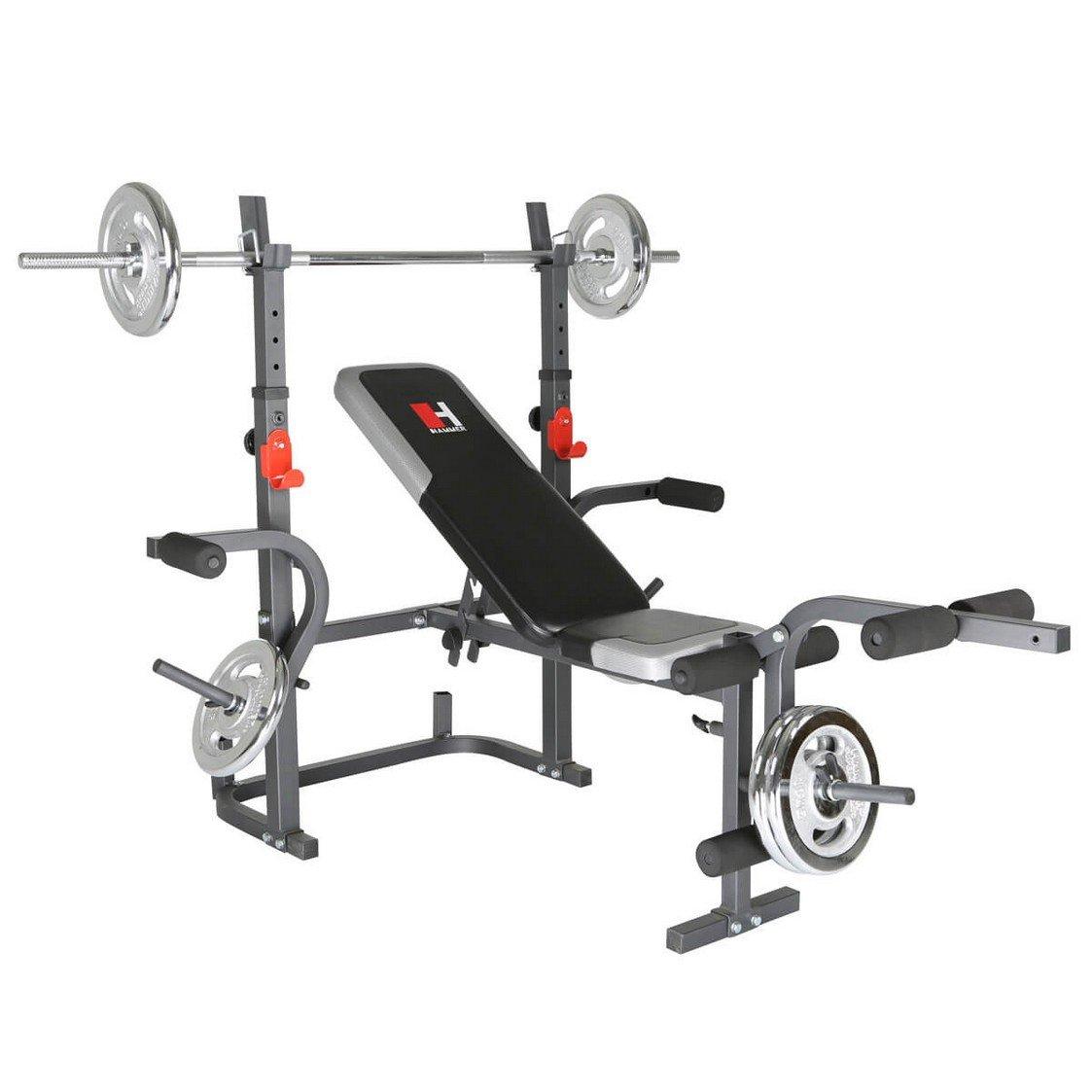 78866399, Hammer Hantelbank Bermuda XT mit Gewichten 45 kg, 3995