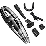 Car Vacuum Cleaner Cordless, Lesgos 4KPa Portable Handheld Rechargeable Auto Vacuums Cleaner with Stronger Suction, DC 12V Wet and Dry Use for Quick Car Cleaning/Home/Pet Hair