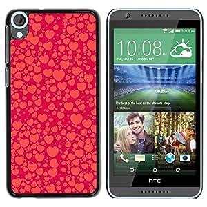 All Phone Most Case / Hard PC Metal piece Shell Slim Cover Protective Case Carcasa Funda Caso de protección para HTC Desire 820 heart purple orange red peach bubble