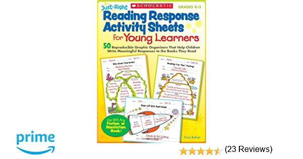 Workbook free phonics worksheets : Amazon.com: Just-Right Reading Response Activity Sheets for Young ...