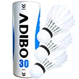 Feather Shuttlecock, Adibo Outdoor Badminton Birdies Durable Goose Feathers Sports Training Badminton Ball, 3 Packs