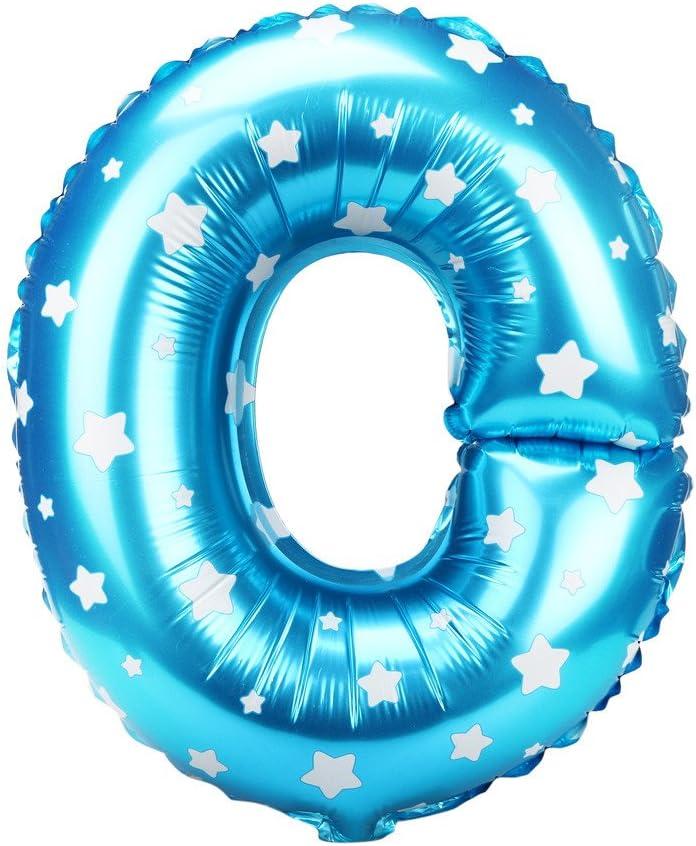 16 Pouces Petite Lettre Lettre Lettre en Aluminium Ballon Anniversaire Anniversaire Ballon D/écoration No/ël Nouvel an F/ête de Mariage simpyfine 26 Lettre Bleu A
