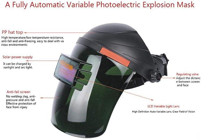 con soldador solar con parasol de oscurecimiento autom/ático con amplia gama de lentes ajustables MOGOI Casco de soldadura profesional m/áscara de soldadura 4//9-13 para Arc Tig Mig Plasma