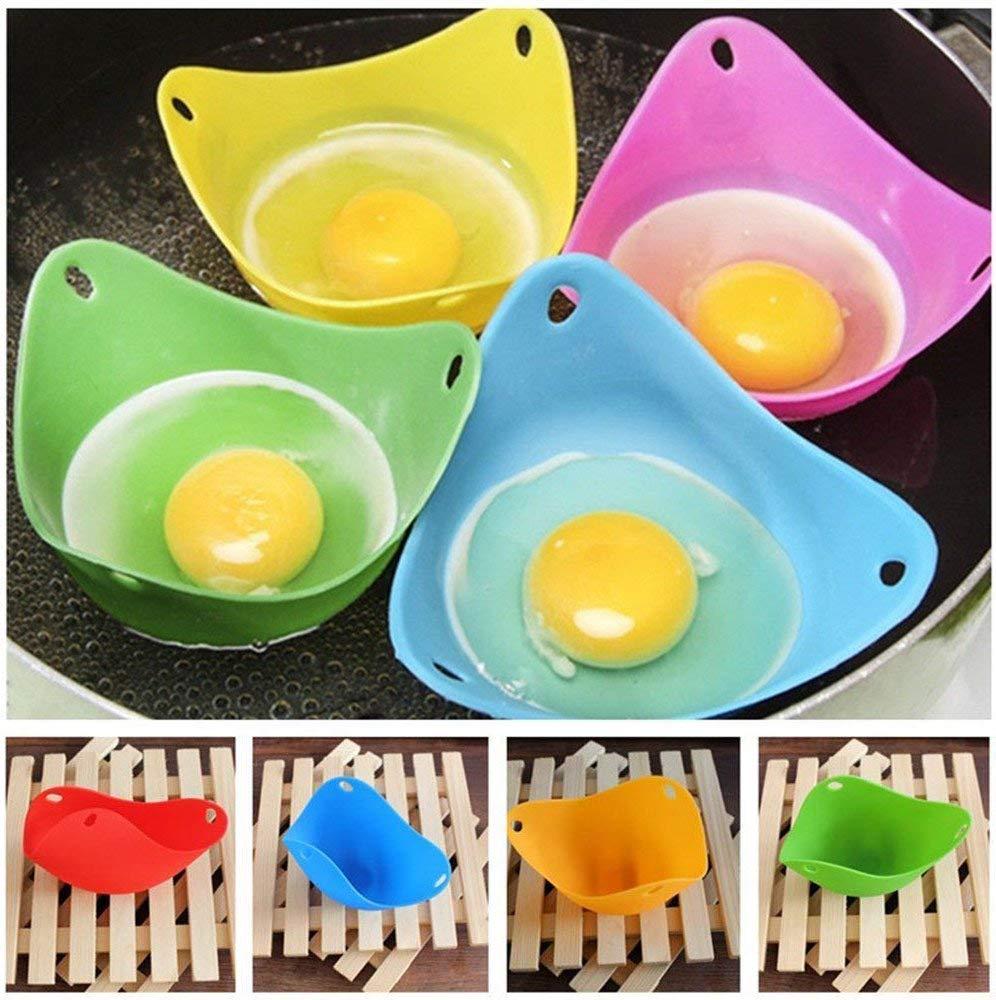 Juego de 6 hueveras de silicona para cocinar huevos escalfados ...