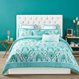 Christian Siriano Duvet Set with Cover and Shams, Full/Queen, Capri