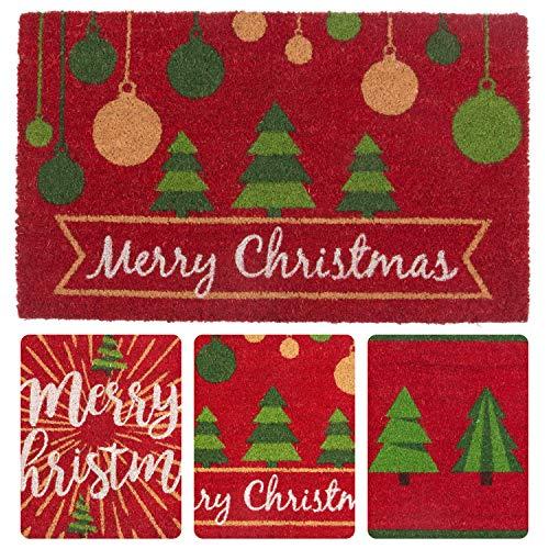 Coir Door Mats - Seasonal (Ornaments) (Door Coir Mat Christmas)