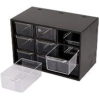 Dayons 9 Drawer Acrylic Storage Desk Cabinet Organizer Storage Box (Black)