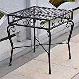 International Caravan Tropico Iron Side Table For Sale