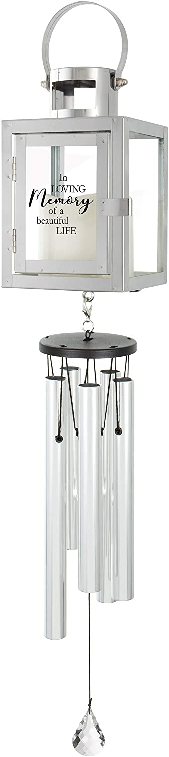 The Bridge Collection Memorial Lantern Wind Chime (in Loving Memory of a Beautiful Life)