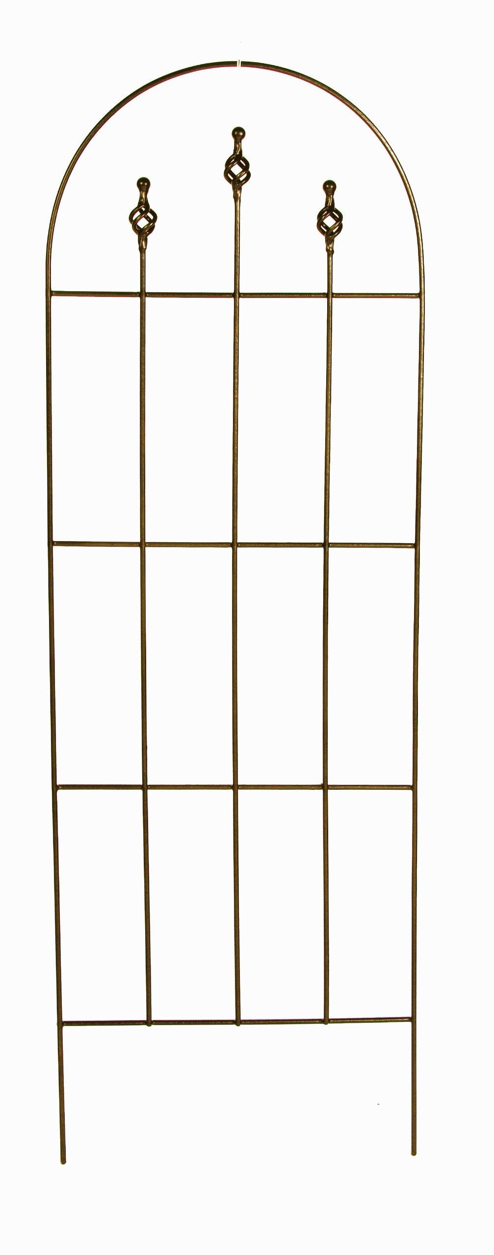 Gardman R552 Finial Trellis, Antique Copper Finish, 20'' Wide x 60'' High