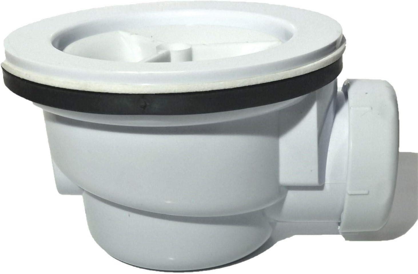 Válvula de desagüe para platos de ducha de resina pizarra 90 mm ...
