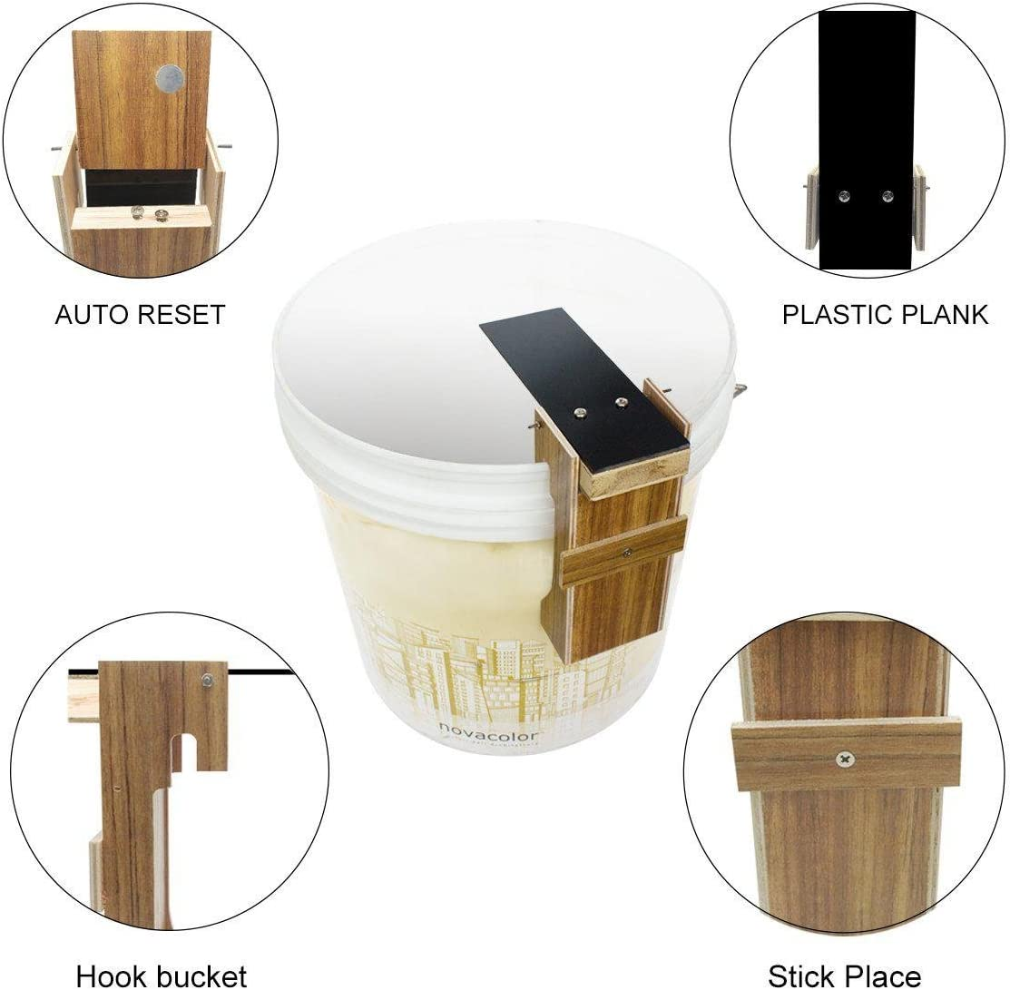 Plank Mouse Trap Aolvo Reusable Non Poison Plank Mouse Trap Auto Reset To Catch Multiple Mice Rats Rodents /& Other Pests with Only One Trap
