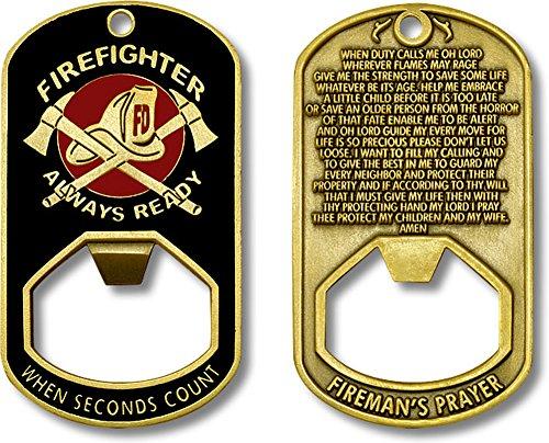 Fireman's Prayer - Firefighter Always Ready Bottle Opener Dog - Wine Fireman