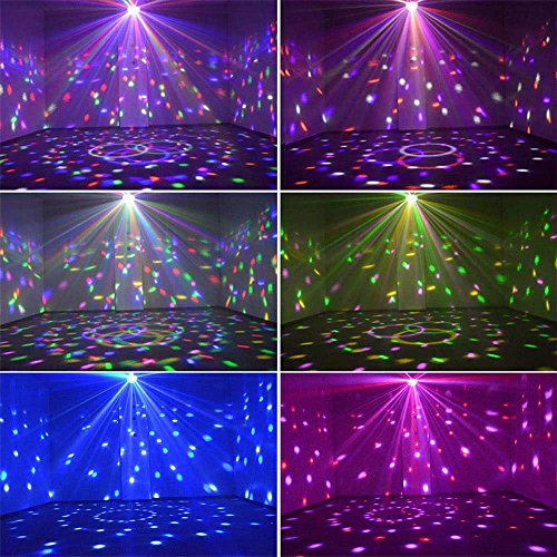 YouOKLight Sound Activated 6 Color LED Music Crystal Magic Ball MP3 Disco DJ Stage Lighting with Remote Control for Home Room Dance party Birthday Gift Kids Club Wedding Decorations by YouOKLight (Image #6)