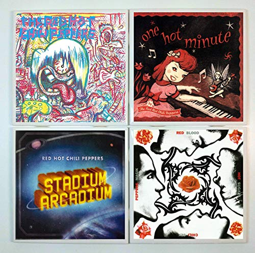 Cover Chili Peppers - Red Hot Chili Peppers Coasters - set of 4 tile coasters - band coasters, album covers