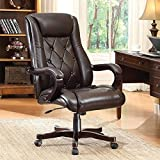 Cheap INSPIRED by Bassett Chapman Executive Chair with Thick Padded Espresso Eco Leather Seat and Back